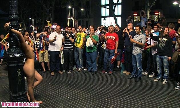 Public Disgrace Samia Duarte KINK Spanish hottie naked and fucked in public