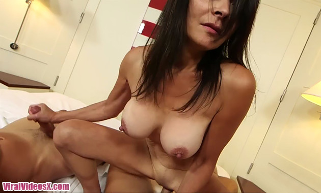 MomPov Judy 49 year old MILF gets double dicked