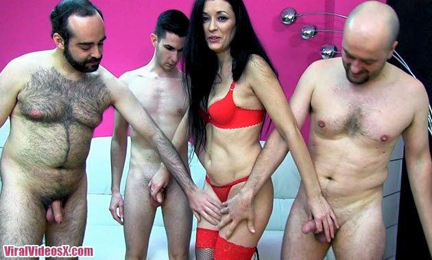 Casting Porno Carmen Tres pollas para la ...