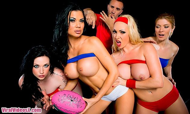 Brazzers Rugby Jasmine Jae and Victoria S...