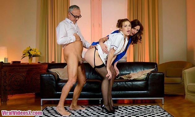 Jim Slip Alexis and Lara Latex Crazed nur...