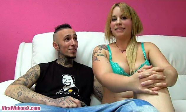 Casting Porno Violeta Probando Machos