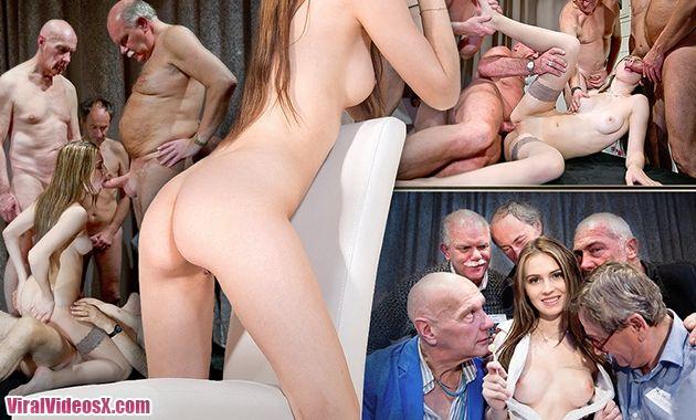Orgia y Gang Bang de viejos con Lucianna ...