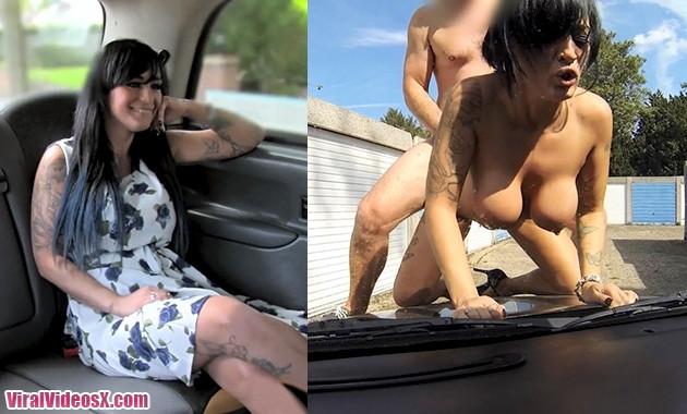 Sexy masseuse gets fucked on car bonnet E...