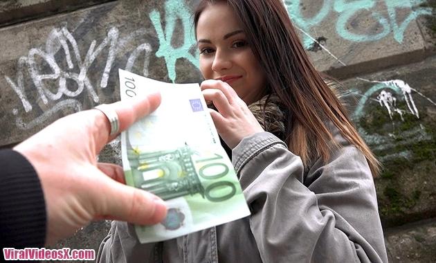 Nana Euro Babe with Perky Tits Public Pic...