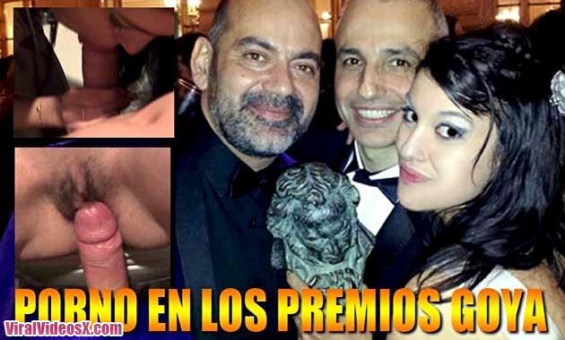 Ana Marco follando en los Premios Goya