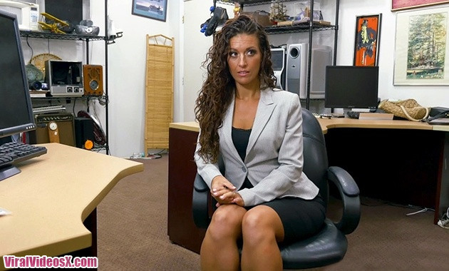 XXX Pawn Victoria Banxxx SexTrade for a Laptop