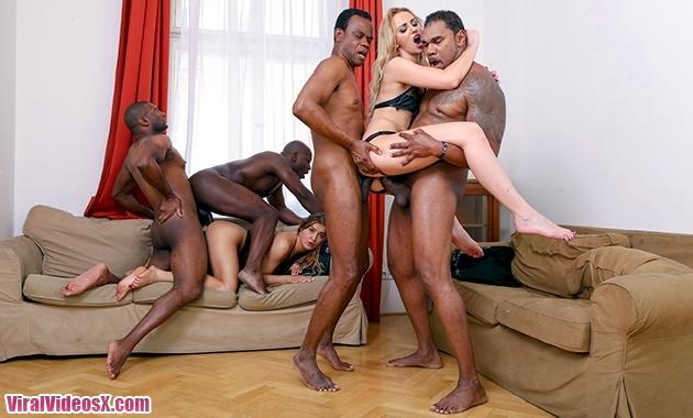 LegalPorno Afina Kisser and Allen Benz 4 On 2 Intense Hard Interracial