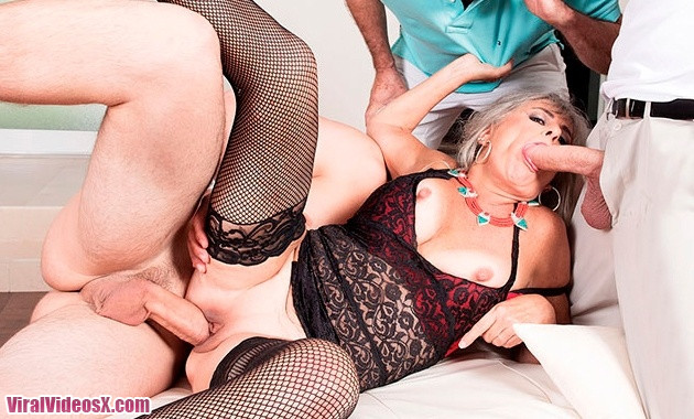 Silva Foxx Three-Way Humiliation 60 Plus