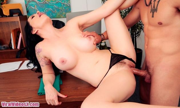 Big Tits Boss - Angie Noir