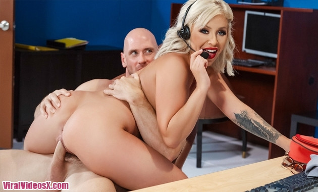 Madelyn Monroe in Call Center Cock BigTit...