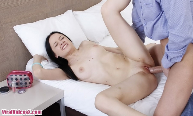 Teen virgin Luchya gets her pussy drilled...